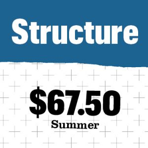updated costs for summer 2022 for structures