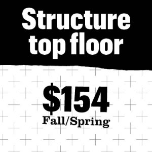 Structure top floor cost $154
